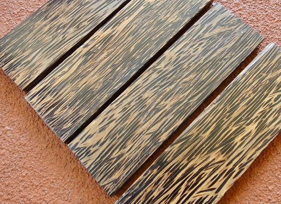 Knife Scales - Stabilised Brown Black Palm Wood130x40x8-10mm