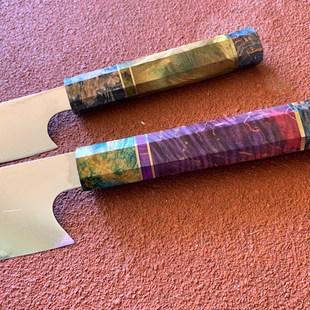 2 pce Damascus Steel Chef Knife Japanese