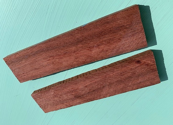 Australian Jarrah Scales Pair. 151x39x9.5mm
