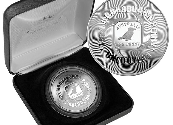 $1 Subscription 2008 1921 Kookaburra 1d Silver Proof Coin