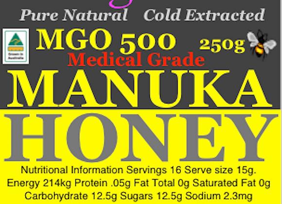 MGO500 250g Manuka Honey Pure Raw Australian
