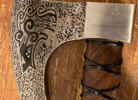 Viking Axe with Leather Sheath