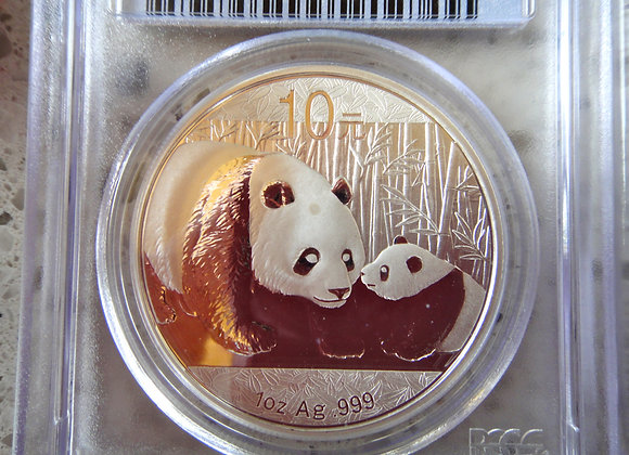 2011 China Peoples Republic Panda Silver 1 oz coin bullion .999 PCGS MS69