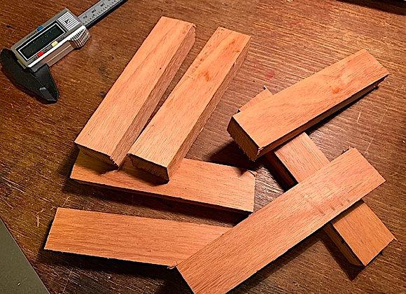 Australian Blue Gum Hidden Tang Knife Handle Block