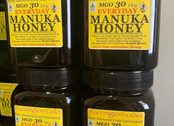 4 Kg  Australian Manuka Honey Everday Use MGO 30 (4 x 1Kg)