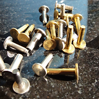 Brass and nickel silver cutler rivets