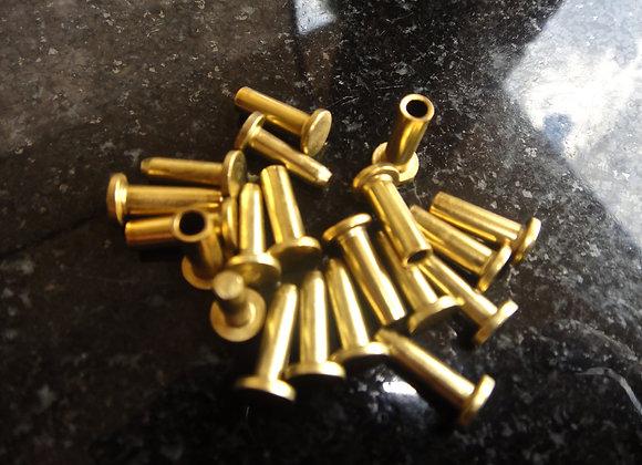 Brass Cutlery Rivets  3 sizes (10 sets)