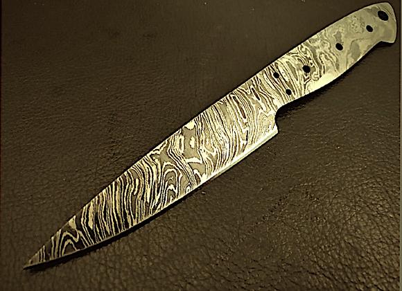 Flame Damascus Steel 32cm Chefs Knife Blank