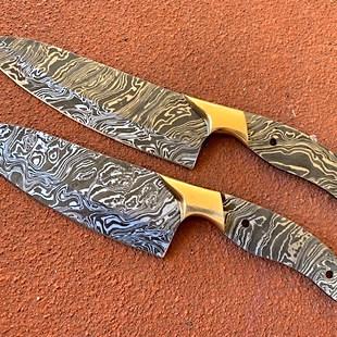 2 pce Flame Damsacus Kitchen knife set.j