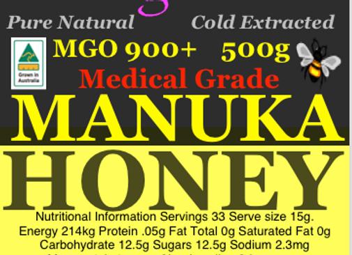 MGO900 500g Genuine Australian Manuka Honey High Antibacterial Medicinal