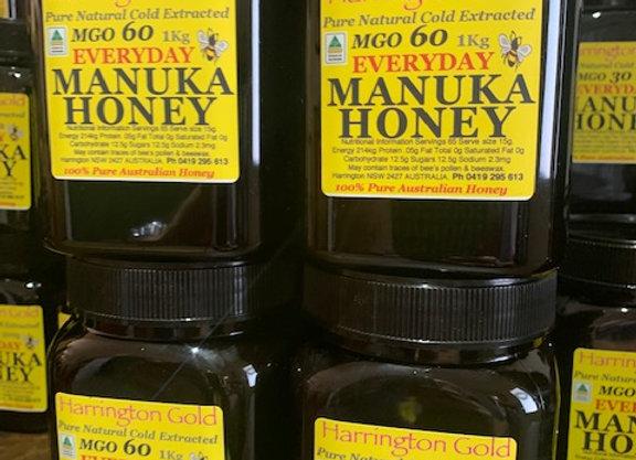 4 Kg  Australian Manuka Honey Everday Use MGO 60 (4 x 1Kg)