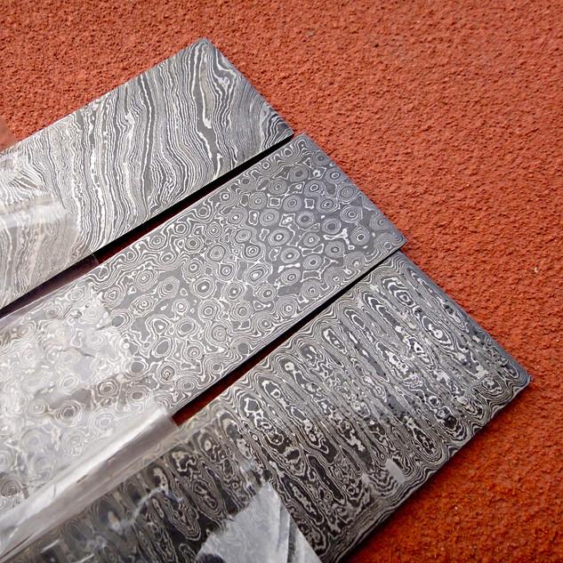 Damascus billet steel bar