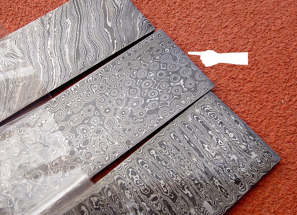 RAINDROP PATTERN Damascus Steel Billets make your own knife.