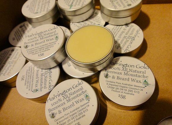 100% All Natural Moustache & Beard Wax Xtra Hold