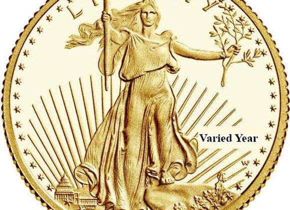 1990 Proof Gold American Eagle 1/10 Oz. w/ Box, Case, and CoA Bullion Coin