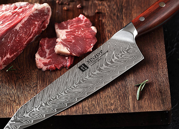 2 pcs professional Japanese Damascus steel kitchen knife set