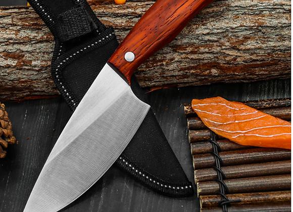 Stainless Full Tang Kitchen Vegetable Prep Knife & Sheath
