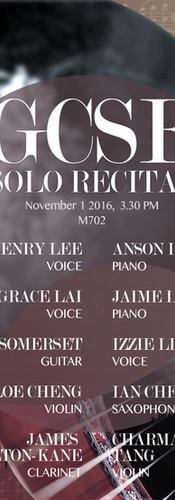 160914_GCSE Solo Recital Revised