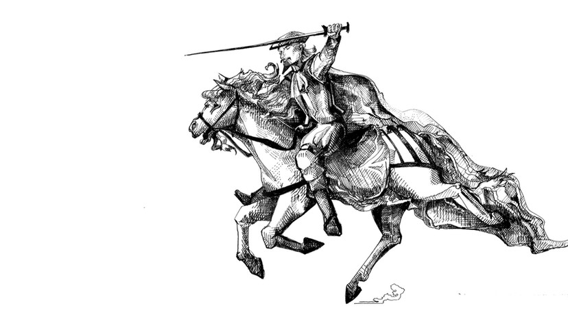 Don Quixote and Rozinante