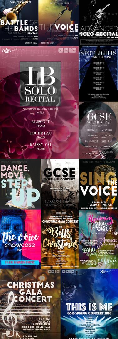 GSIS Music Ambassadors School Posters