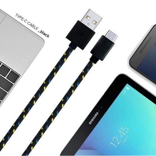 1m Nylon Braided Type-C USB Data + Charging Cable