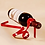 Thumbnail: Ribbon Shaped Iron Wine Bottle Rack Stand Holder