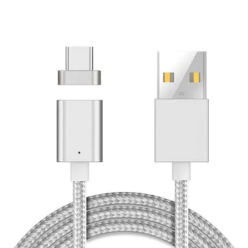 Type-C Magnetic Cable USB Charger - Silver