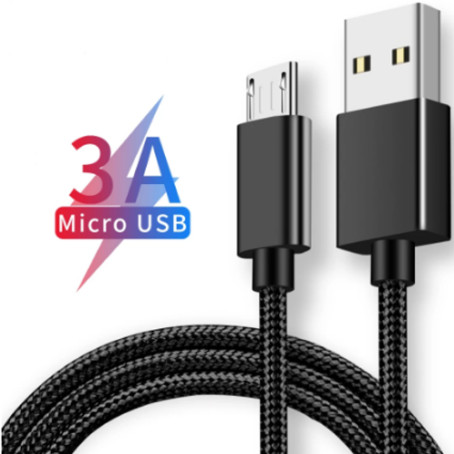 2m Micro USB Cable 3A Charging + Data Cable