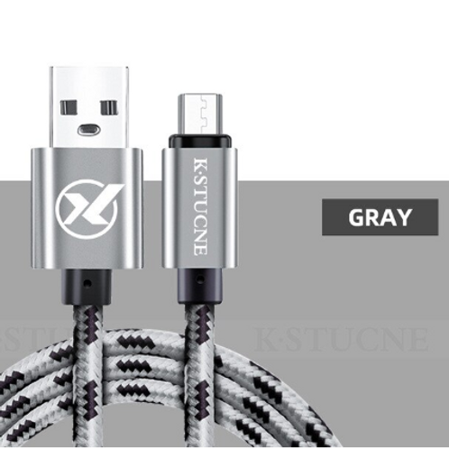 2m Nylon Braided Micro USB Data Sync + Charging Cable