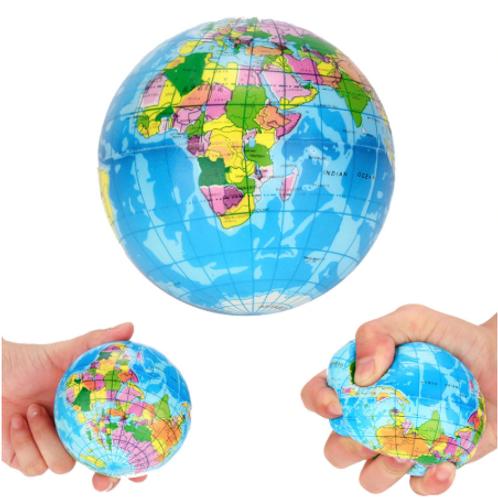 Squishy Stress Ball Atlas Earth