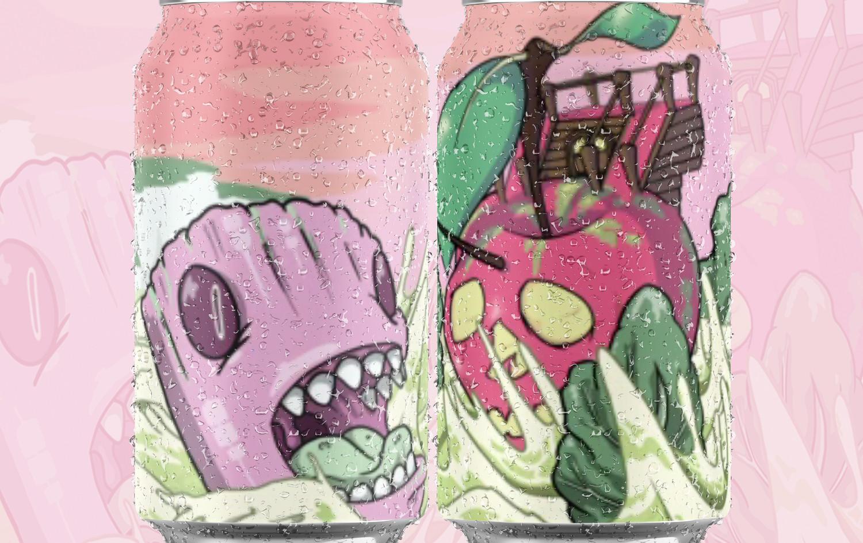 Rhubarb Kraken Cans