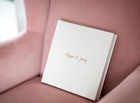 {Albums} Queensberry Wedding Album - White Leather Flushmount