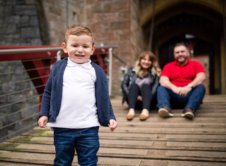 {Family} Louise, Gareth & Ollie | Castell Coch