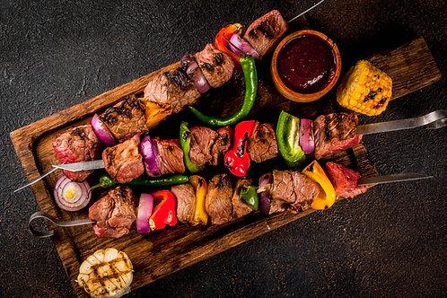 Beef Kabob & Burger Box