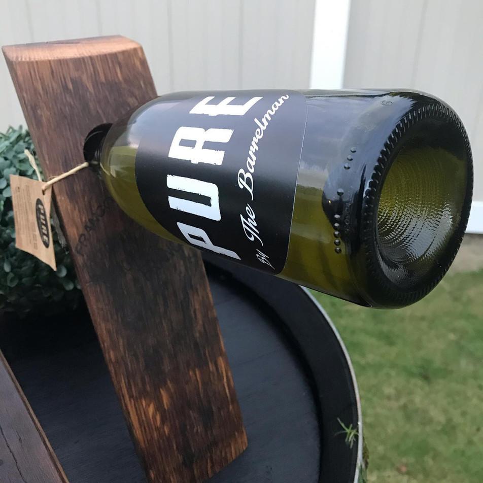 Oak Wine Bottle Holder