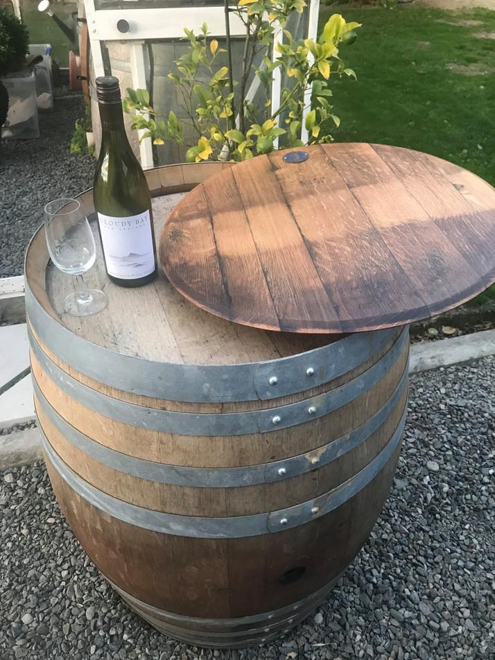 Recycled Wine Barrel Oak Lazy Susan
