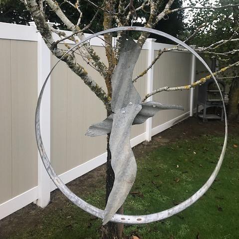 Metal Garden Art Albatross