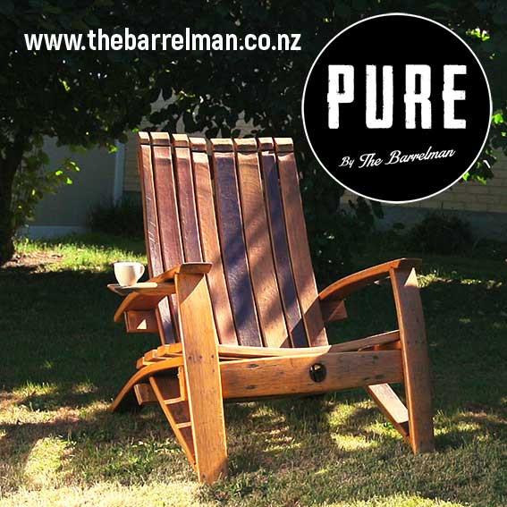 Wine Barrel Stave Chair