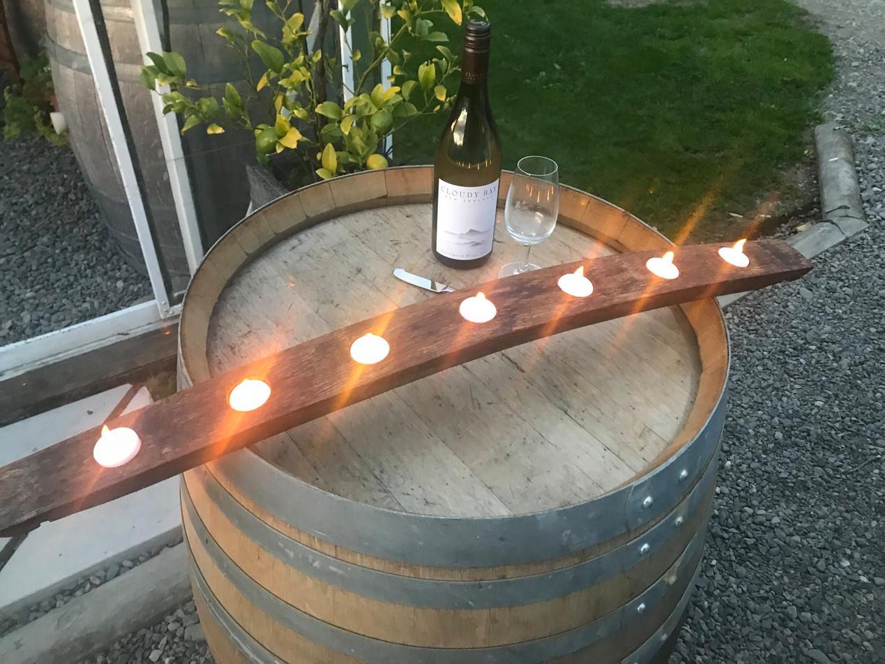 Wine Barrel Oak Candle Holder Seven Candles