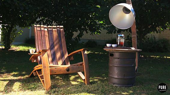 Wine Barrel Stave Chair (2)