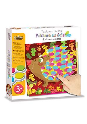 Peinture au doigt Les Animaux colorés - Créalign'