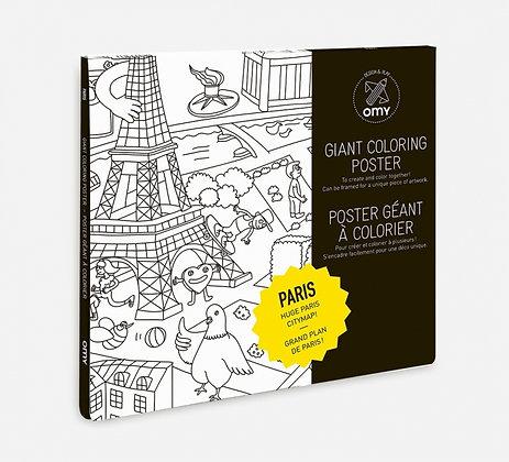 Paris coloriage géant Omy