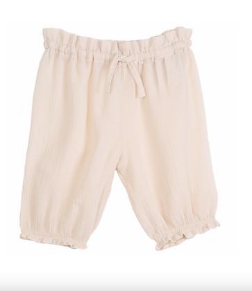 Pantalon en Crépon écru- Emile Et Ida