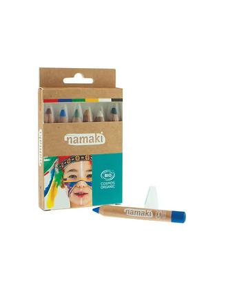 Kit de 6 crayon de maquillage Arc en Ciel - Namaki