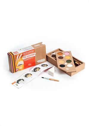 Kit de maquillage 8 couleurs, Vie sauvage - Namaki