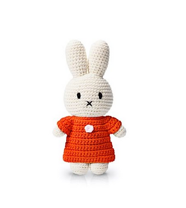 Miffy en crochet Robe rouge