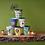 Thumbnail: 6 goblets en Mélamine thème Jungle bleu - Rice