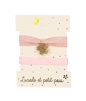 Duo de bracelets élastiques Roses - Luciole et Petit Pois