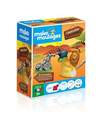 Destination Savane 3 animaux - Mako Moulages