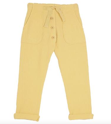 Pantalon en Gaz de coton, couleur Soleil- Emile Et Ida